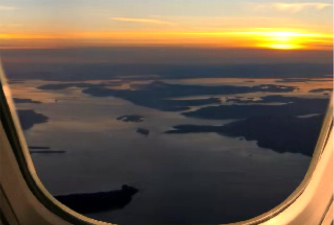 aerial view of the gulf and san juan islands