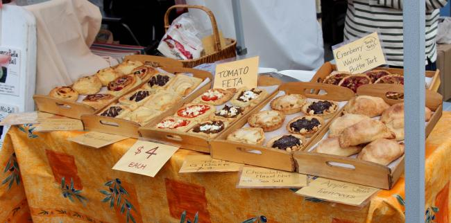 Baked goodies at salt Spring Island market