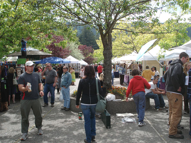 Salt Spring Island market every Saturday from April to October