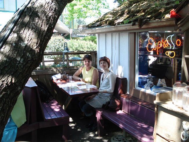 Tree House Cafe on Salt Spring Island - Captain's favourite