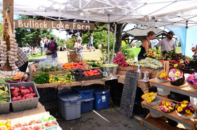 farmers market Salt Spring Island fresh local organic vegetables